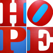 Hand Signed Hope (R/W/B) By Robert Indiana