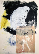 Hand Signed Poise By Robert Rauschenberg