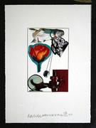 Hand Signed Christmas By Robert Rauschenberg Framed Retail $4.5K