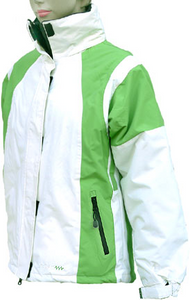 Women's Bright Green Ski and Snowboard Jacket