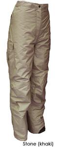 Women's Khaki Cargo Ski Pants (2XL)