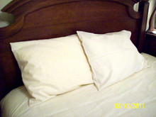 PILLOWCASE - Hemp and Organic Cotton - washable, unbleached, undyed, off-white cream