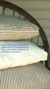 Travel or Toddler Eco Wool Pillow with Free Hemp-Cotton Pillowcase