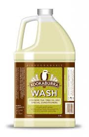 KOOKABURRA WOOL WASH - 1 Gallon - Natural soap safe for wool - w/ tea tree oil
