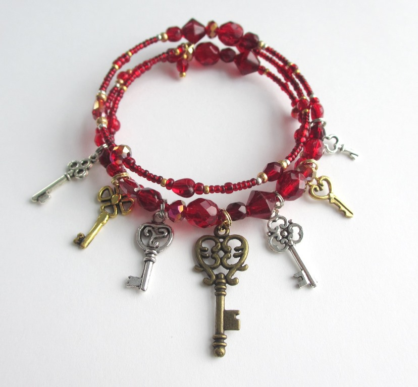 Inspired by Bluebeard's Castle Bluebeards Keys Bracelet