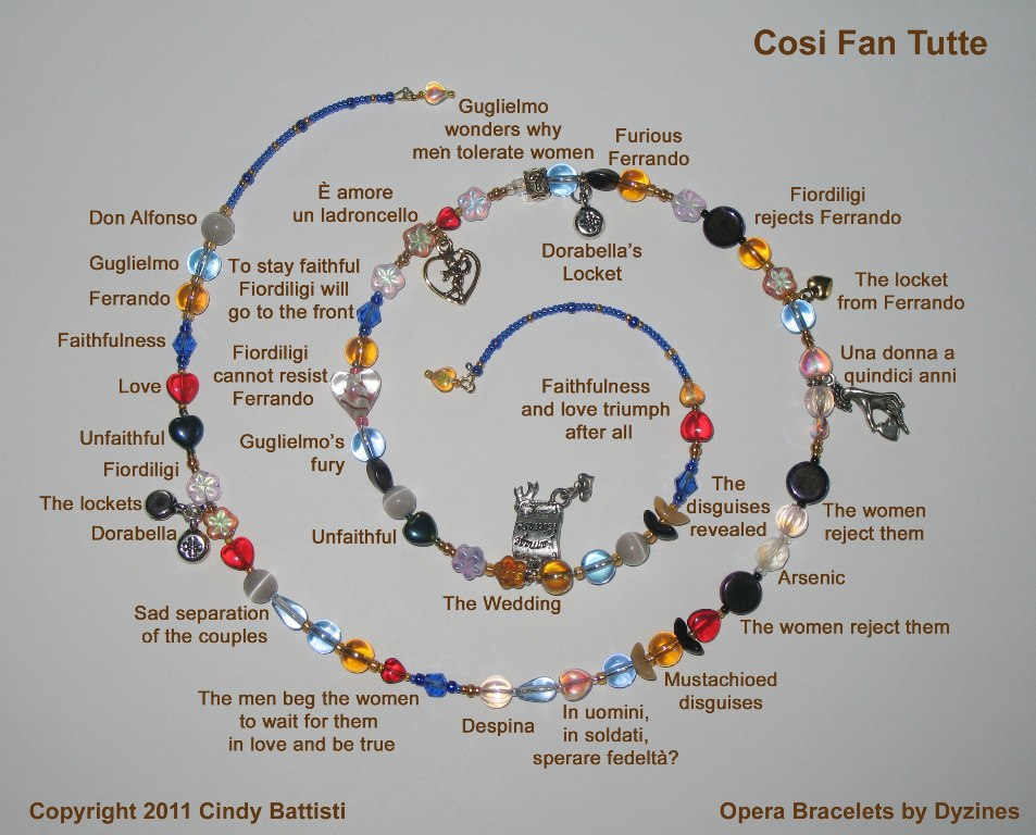 The Cosi fan tutte Opera Bracelet