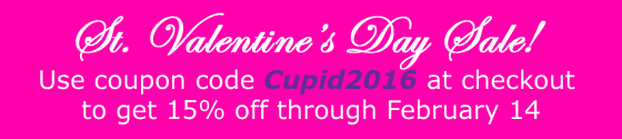 Save 15% on Opera Bracelets with code Cupid2016 at checkout