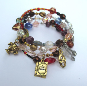 The Don Giovanni Opera Bracelet tells the story of Mozart's dramatic opera with symbolic beads and charms.