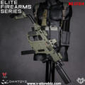 DAM Elite Firearms Series 3 EF014 OD Green Vector SMG w/ Gray Chest Rig