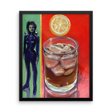 Whiskey on the Rocks with L'Emma Peel - Framed poster