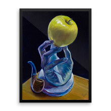This is not an apple (homage to Magritte) -  Framed poster
