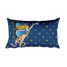 Faerie Series: The Blue Faerie at Midnight - Rectangular Pillow