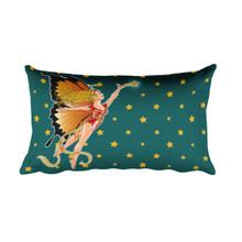 Faerie Series: Monarch Faerie - Rectangular Pillow