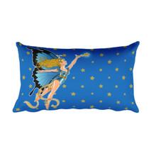 Faerie Series: Blue Faerie - Rectangular Pillow