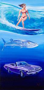 Oceans Series: Barracudas - Original Painting