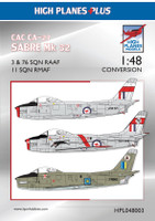HPL048003 High Planes CAC 'Avon' Sabre Conversion 1:48