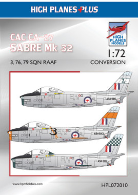 High Planes CAC CA-27 Avon Sabre RAAF 3, 77, 79 Sqn Conversion 1:72