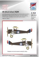 High Planes Airco DH5 68 (Australian) Squadron A9242 Decals 1:72