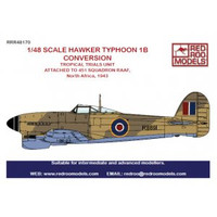 Red Roo Models Hawker Typhoon tropical Conversion Accessories 1:48