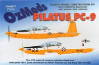 OzMods Scale Models 1/72 Pilatus PC-9 RAAF Trainer US Army Kit 1:72