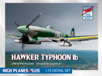 "Airfix Hawker Typhoon 1b Kit + High Planes ""Bomb-phoon"" set 1:72"