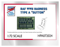 High Planes RAF Sutton & Lap Sash Harness Etched Metal Accessories 1:72