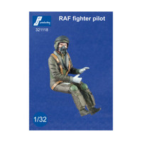 PJ Productions RAF Modern Fighter Pilot seated in aircraft Figure 1:32 (PJP321118)
