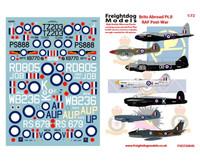 Freightdog Brits Abroad Pt.II Decals & Resin Spitfire IXe Pointed Rudder 1:72