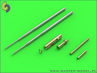 Master Models MiG-17A/P/F (Fresco A, B, C) - 37mm and 23mm gun barrels set & Pitot Tubes Accessories 1:32