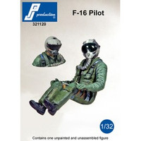 PJ Productions F-16 pilot seated in aircraft Figure 1:32 (PJP321120)