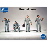 PJ Productions Ground Crew (suitable for various AF) - 4 Figures 1:48 (PJP481127)
