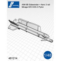PJ Productions AIM-9B Sidewinder with CES-3 pylons (dtbu with Mirage III/5) Accessories 1:48 (PJP481214)