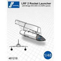 PJ Productions LRF 2 Rocket Launcher with pylon  for Mirage III/5 Accessories 1:48