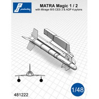 PJ Productions MATRA Magic1/2 with pylon for Mirage III/5 Accessories 1:48 (PJP481222)