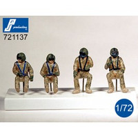 "PJ Productions HU-60 ""Black Hawk"" crew - 4 Figures 1:72 (PJP721137"