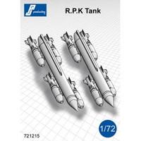 PJ Productions RPK Tanks + 8 SAMP 125Kg bombs (dtbu with Mirage 5F, IIIO, 50, Panthera,…) Accessories 1:72 (PJP721215)