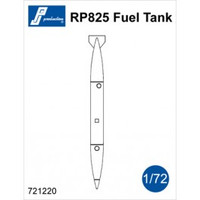 PJ Productions RP825 Fuel Tank + pylon  (ventral tank for Mirage IIIC/E) Accessories 1:72