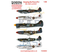 Freightdog Keeping the Peace RAF, RAAF and RCAF Pt.I Decals 1:48 (FSD48009)