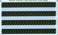 Pegasus German WWI 4 colour lozenge inc. rib tapes (UPPER) Decals 1:72