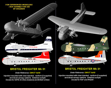 OzMods Scale Models 1/144 Bristol Freighter Mk31 Military Kit 1:144 (OZK14419)