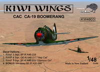 Kiwi Wings CAC CA-19 Boomerang Kit 1:48 (KW4803)