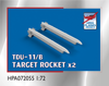 High Planes TDU-11/B Mk 26 head Target Rocket and AERO-3B rail x 2 Accessories 1:72 (HPA072055)