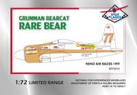 High Planes Grumman Bearcat Reno Racer Rare Bear 1989