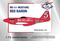 "High Planes North American Griffon Mustang RB-51 ""Red Baron - Michelob Light"""