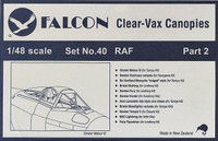 Falcon Clearvax Canopy Set No.40: RAF Part 2 Accessories 1:48