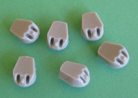OzMods Scale Models Replacement turrets for Airfix 1/600 HMS Ajax Set of 6 per pack Accessories 1:600