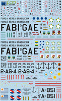 FCM Latin American S-2A Tracker Decals 1:72