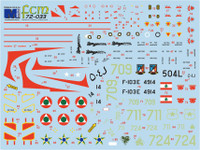 FCM Mirage III E/V - Brasil, Chile & Lebanon Decals 1:72