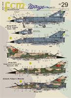 FCM Mirage III E/50 - Brazil, Venezuela Decals 1:48