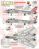 FCM F-14A Tomcat Sundowners Part 1 Decals 1:48